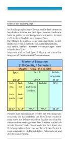 Studieninformationsflyer Master Of Education - Institut für ... - Page 7