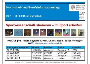 Vortragsfolien - Institut für Sportwissenschaft - Technische ...