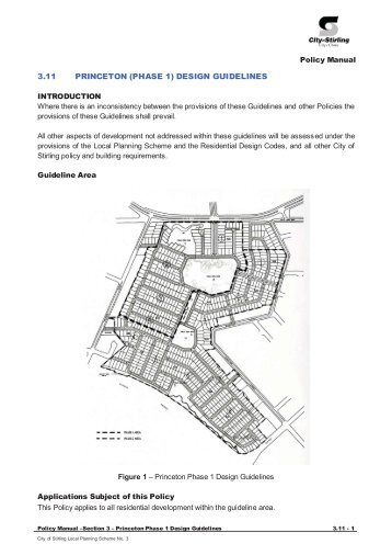3.11 princeton (phase 1) design guidelines - City of Stirling