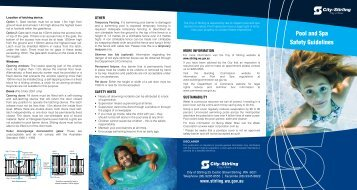 Pool and Spa Safety Guidelines - City of Stirling