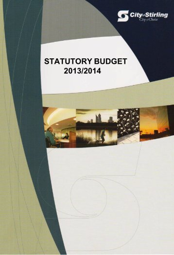 Statutory Budget 2013 - 2014 - City of Stirling