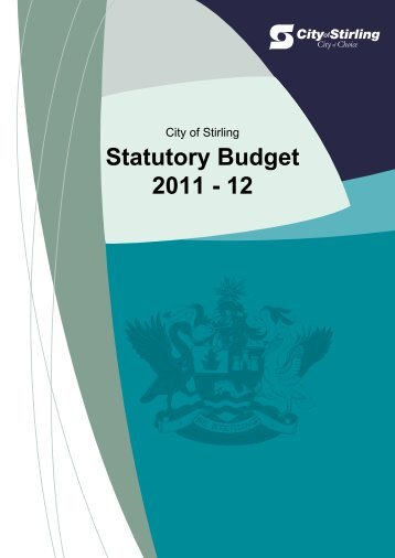 Statutory Budget 2011 - 2012 - City of Stirling