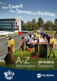 City of Stirling A-Z Services and Facilities