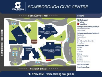 Scarborough Civic Centre Map - City of Stirling