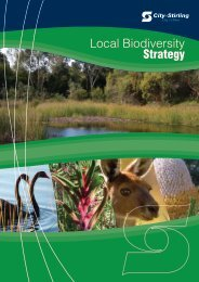 Local biodiversity strategy - City of Stirling - The Western Australian ...