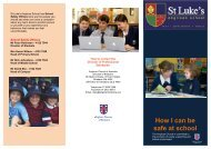 How I Can Be Safe at School - pamphlet - St Luke's Anglican School