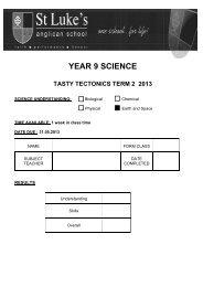 year 9 science tasty tectonics term 2 2013