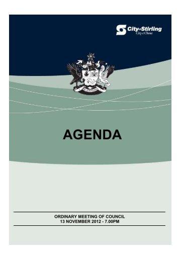 agenda - City of Stirling