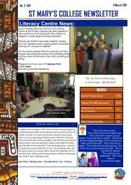ST MARY'S COLLEGE NEWSLETTER