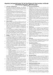 Mietbedingungen - STREIF Baulogistik