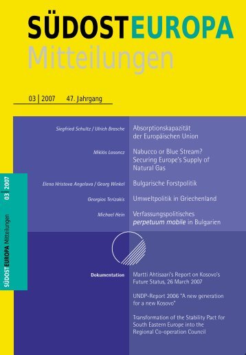 Heft / Issue 03 - Suedosteuropa Gesellschaft