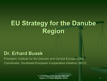 Dr. Erhard Busek - Council of Danube Cities and Regions