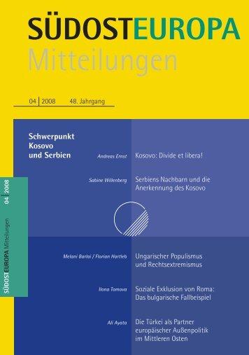 Heft / Issue - Suedosteuropa Gesellschaft