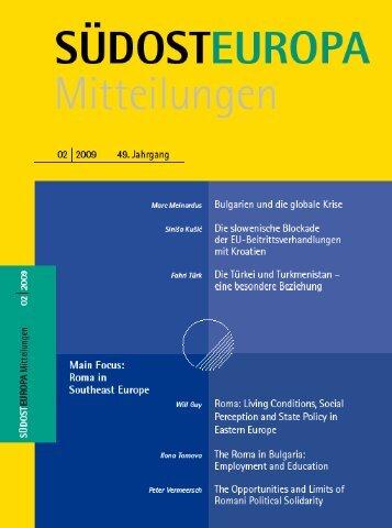 Heft / Issue: 02 - Suedosteuropa Gesellschaft