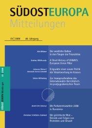 Heft / Issue: 01 - Suedosteuropa Gesellschaft