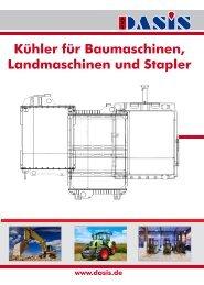 Kühler für Bau-, Landmaschinen und Stapler - Dasis.de
