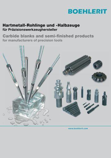 BOEHLERIT Hartmetall-Rohlinge und -Halbzeuge