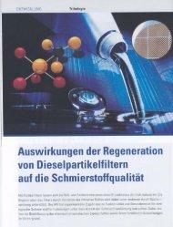 Auswirkungen der Regeneration von Dieselpartikelfiltern auf die ...