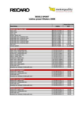 Recaro Sport 2009 - Cosentino Car Tuning