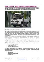 XT Elektrofahrzeuge - Emosolar.com