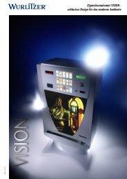 Zigarettenautomat VISION - exklusives Design für das ... - Wurlitzer