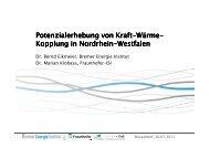 Präsentation ohne Netzlängenbilder - Bremer Energie Institut