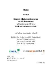 Studie zu den Energieeffizienzpotenzialen durch Ersatz von ... - BMU