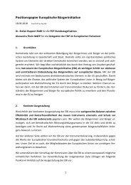 Positionspapier Europäische Bürgerinitiative - FDP ...