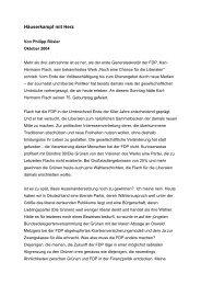 Häuserkampf mit Herz - FDP Fraktion Niedersachsen