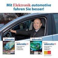 mit Elektronikautomotive fahren Sie besser! - next!-Community