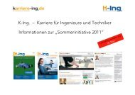 K-Ing. – Karriere für Ingenieure und Techniker ... - next!-Community
