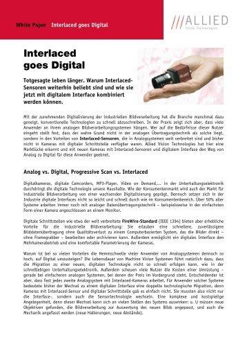 Interlaced goes Digital - Energie & Technik