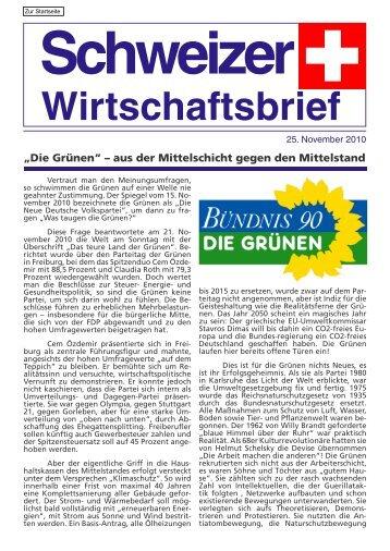 """""""Die Grünen"""" aus der Mittelschicht gegen den Mittelstand"""