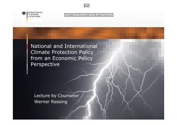National and International Climate Protection Policy from an ...