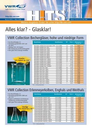 Alles klar? - Glasklar! - VWR-International GmbH