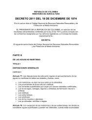 DECRETO 2811 DEL 18 DE DICIEMBRE DE 1974 - Otus Colombia