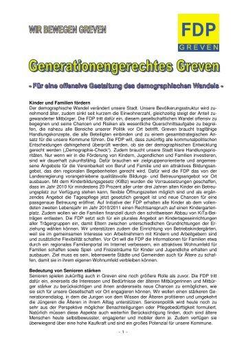 Wahlprogramm der FDP Greven