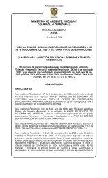 1370 del 31 de julio de 2008 - Ministerio de Ambiente, Vivienda y ...