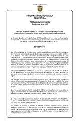 fondo nacional de vivienda fonvivienda - Ministerio de Ambiente ...
