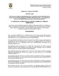 2346 10 agosto 2009 - Ministerio de Ambiente, Vivienda y ...