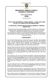 0786 del 23 de abril de 2010 - Ministerio de Ambiente, Vivienda y ...