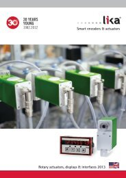 DRIVECOD & POSICONTROL CATALOGUE 2013 from Lika Electronic English version