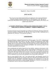 Ministerio del Ambiente, Vivienda y Desarrollo Territorial