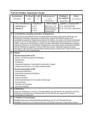 MODUL-BESCHREIBUNG (pdf) - Organische Chemie