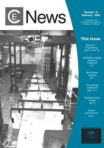 This issue - Civil and Natural Resources Engineering - University of ...
