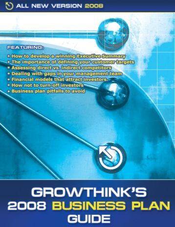 Growthink's 2008 Business Plan Guide
