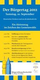 Der Bürgertag 2011 - bei der Bürgerstiftung Breckerfeld