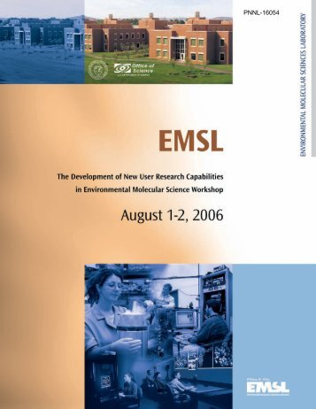 PNNL-16054 - EMSL - Pacific Northwest National Laboratory
