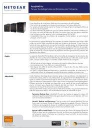 ReadyNAS Pro Serveur de stockage hautes performances ... - Pctop