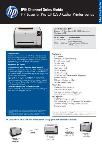 IPG Channel Sales Guide HP LaserJet Pro CP1520 Color ... - Pctop